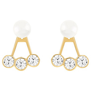 Swarovski gold-plated triple crystal stud earrings - Product number 2789663