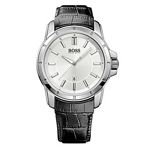 Hugo Boss men's black leather strap watch - Product number 2791153