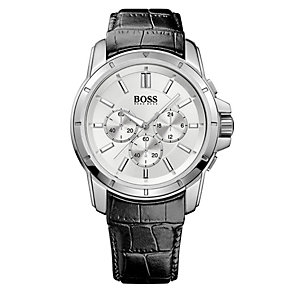 Hugo Boss men's black leather strap watch - Product number 2791188