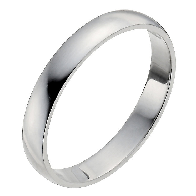 Ladies' Platinum 3mm Wedding Ring - Product number 2794098