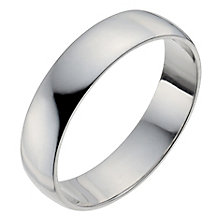 Men's Platinum 5mm Wedding Ring - Product number 2794586