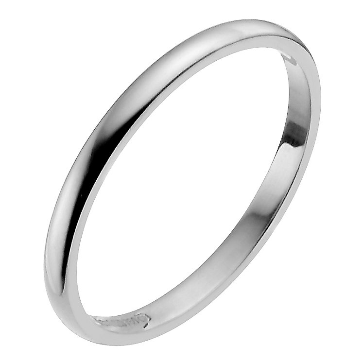 Ladies' Platinum 2mm Wedding Ring - Product number 2795493