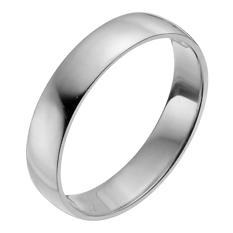 Platinum 4mm Extra Heavy D Shape Ring - Product number 2795973