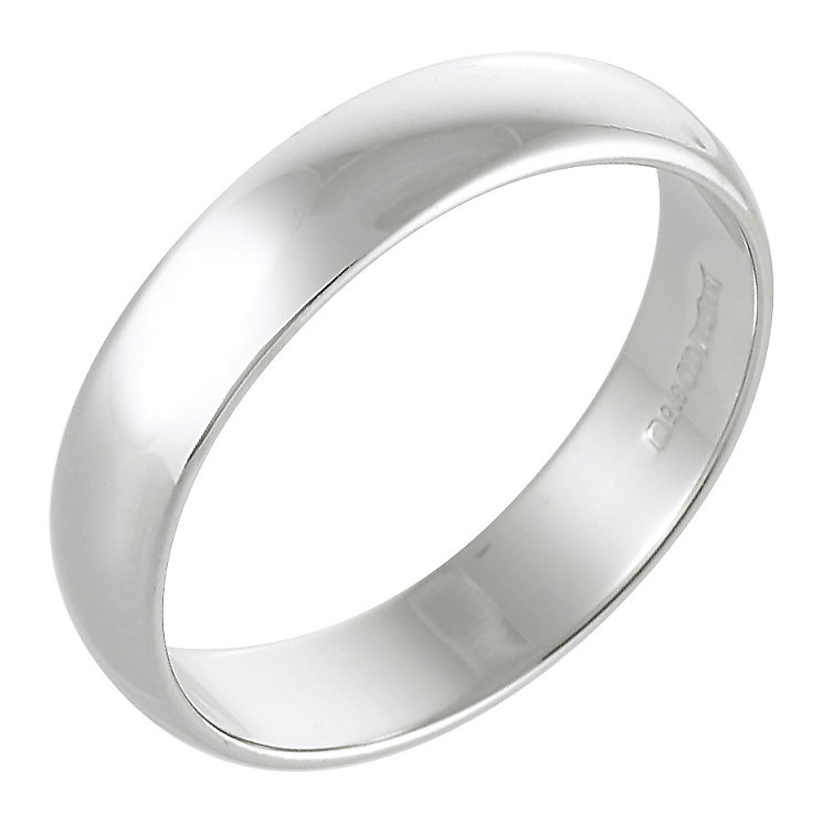 Men's Platinum 5mm Wedding Ring - Product number 2796236