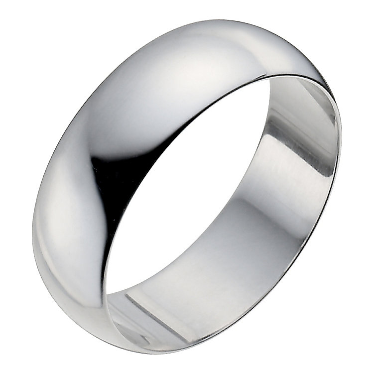 Platinum 7mm Extra Heavy D Shape Ring - Product number 2797623