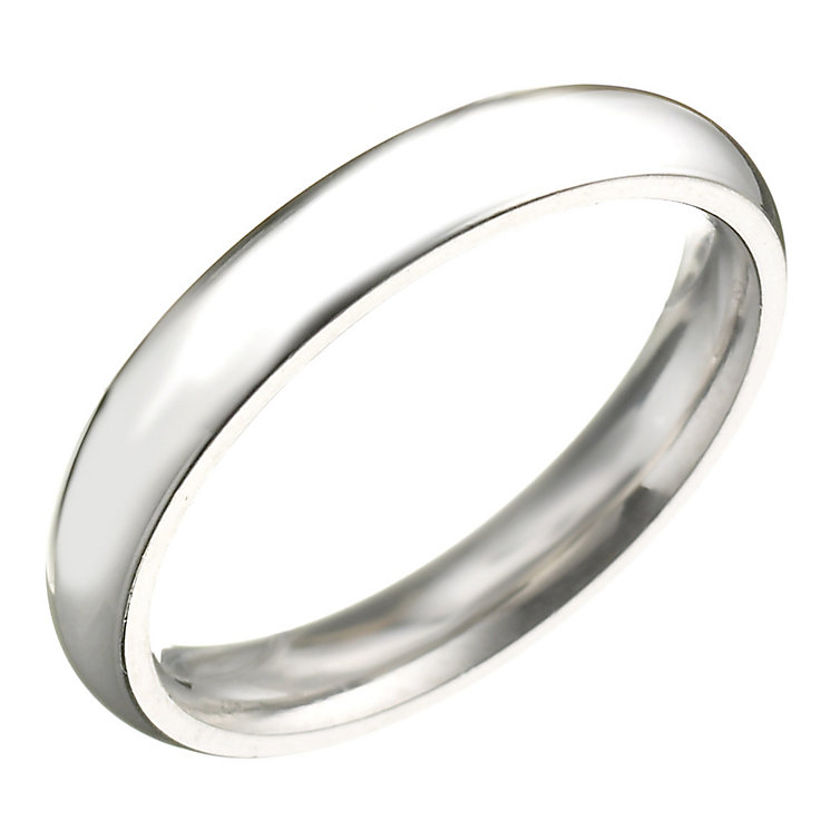 Platinum 3mm Super Heavy Court Ring - Product number 2799103
