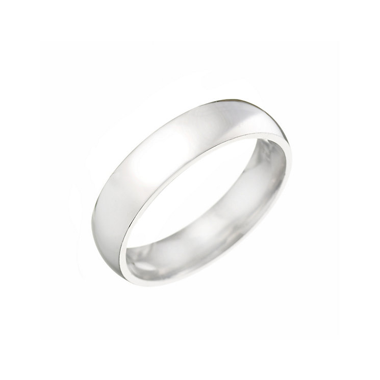 Platinum 5mm Super Heavy Court Ring - Product number 2802120