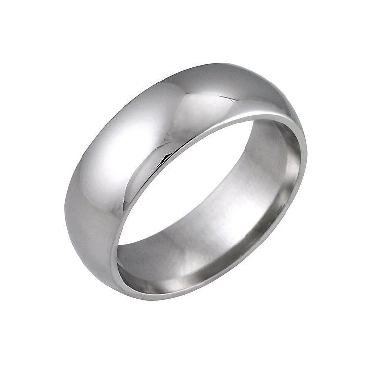 18ct White Gold 7mm Super Heavy Court Ring - Product number 2807645