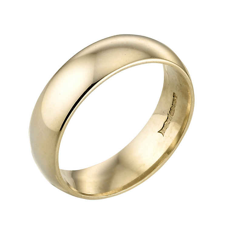 Men's 18ct Yellow Gold 6mm Wedding Ring - Product number 2810174