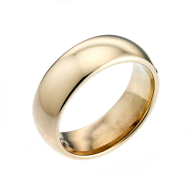 18ct Yellow Gold 7mm Super Heavy Court Ring - Product number 2810808