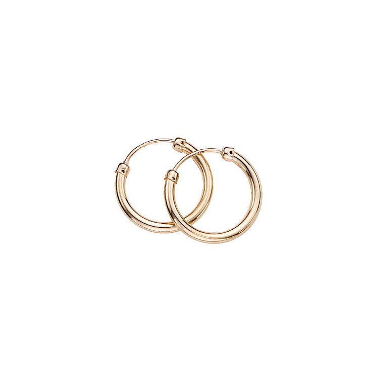 9ct Gold Hoop Earrings - Product number 2811081