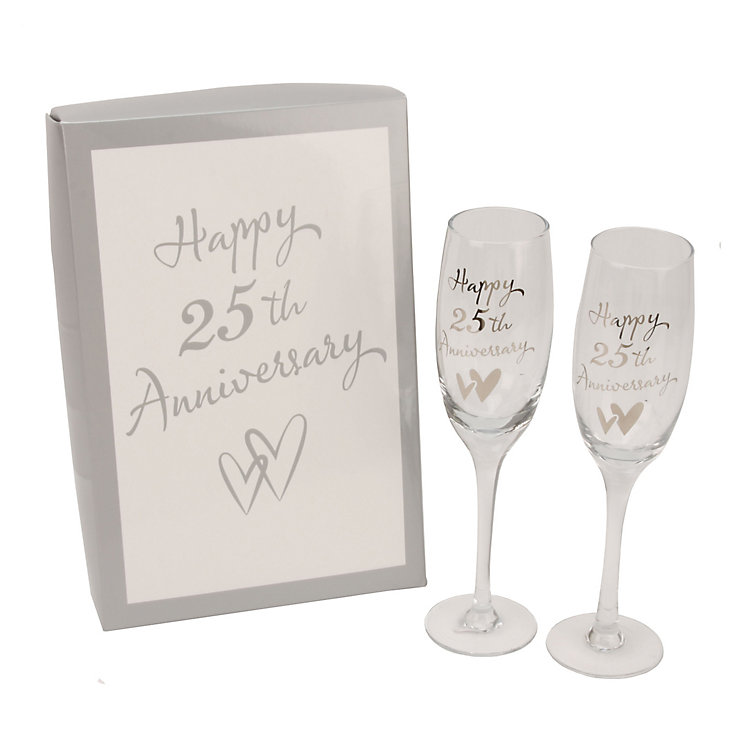 Happy 25th Anniversary Champagne Flutes - Product number 2821125