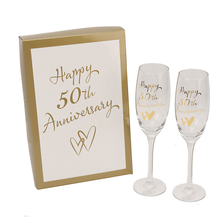 Happy 50th Anniversary Champagne Flutes - Product number 2821141