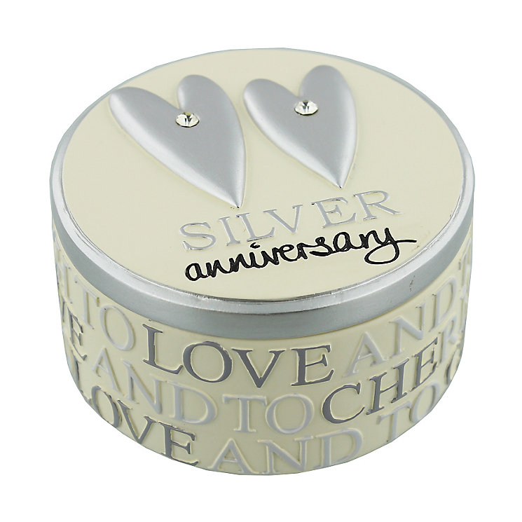 Silver Anniversary Trinket Box - Product number 2821176