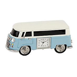 Miniature Camper Van Blue Clock - Product number 2822741