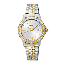 Seiko Ladies' Two Tone Swarovski Elements Bracelet Watch - Product number 2825775