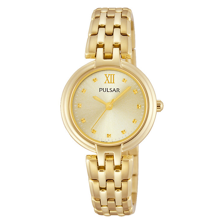 Pulsar Ladies' Yellow Gold Plated Bracelet Watch - Product number 2825856