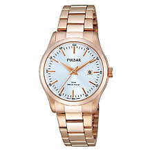 Pulsar Ladies' Rose Gold Plated Bracelet Watch - Product number 2825929