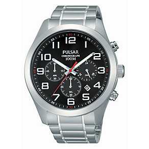 Pulsar Men's Black Dial & Stainless Steel Bracelet Watch - Product number 2826062