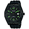 Pulsar Men's Black & Green Silicone Strap Watch - Product number 2826135
