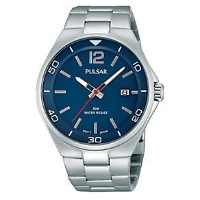 Pulsar Men's Blue Dial & Stainless Steel Bracelet Watch - Product number 2826151