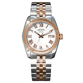 Rotary Men's White Dial Two Tone Bracelet Watch - Product number 2826194