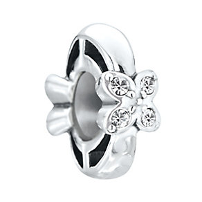 Chamilia Petites Sterling Silver & Stone Flower Spacer Bead - Product number 2826232