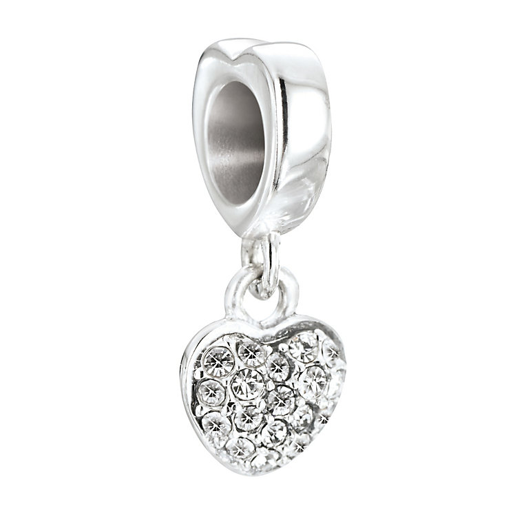 Chamilia Petites Silver & Swarovski Crystal Heart Bead - Product number 2826275
