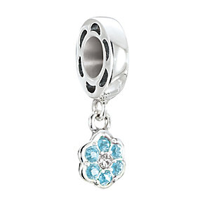 Chamilia Petites Silver & Swarovski Crystal Rosette Bead - Product number 2826305