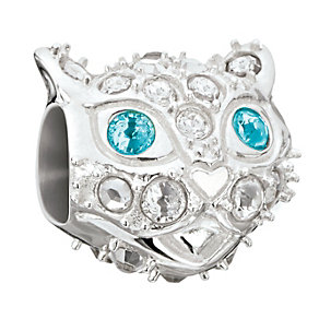 Chamilia Silver & Swarovski Crystal Aggie Cat Bead - Product number 2826798