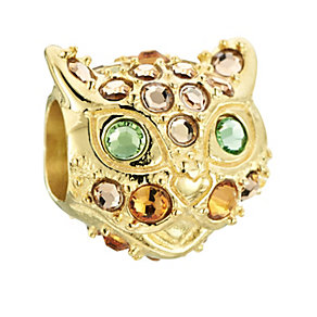 Chamilia Gold Plate & Swarovski Crystal Abner Cat Bead - Product number 2826801