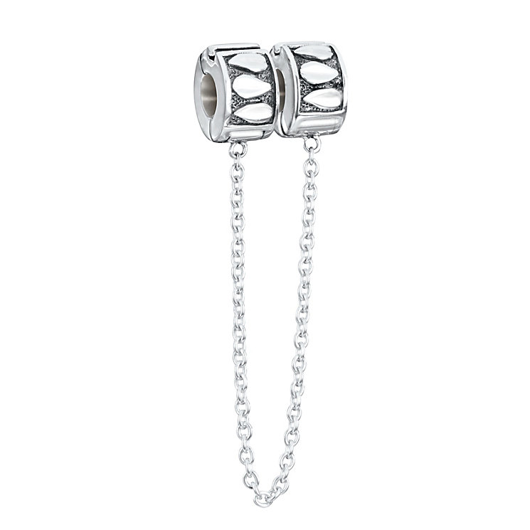 Chamilia Sterling Silver Leaf Lock Safety Chain Bead - Product number 2826917