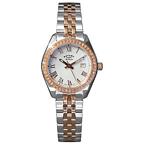 Rotary Ladies' Two Tone Crystal Set Bracelet Watch - Product number 2827212