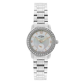 Rotary Ladies' Stainless Steel Mother of Pearl Watch - Product number 2827409