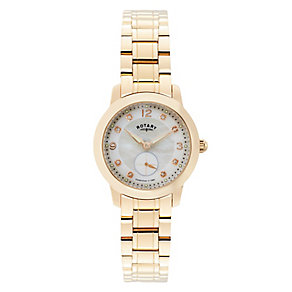 Rotary Ladies' Rose Gold Tone Mother of Pearl Watch - Product number 2827417
