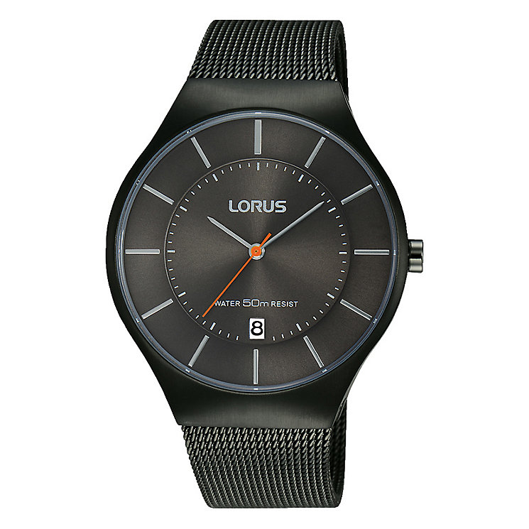 Lorus Men's Black Dial & Black Mesh Bracelet Watch - Product number 2827972