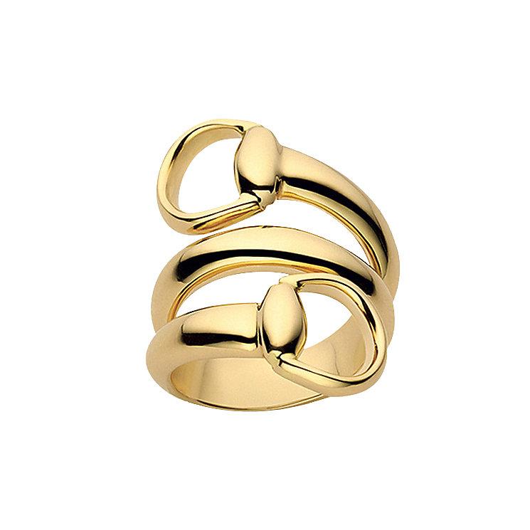 gucci 18ct yellow gold horsebit ring ernest jones