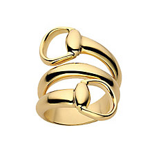 Gucci 18ct yellow gold contraire horsebit ring - Product number 2827999