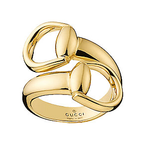 Gucci 18ct yellow gold horsebit ring - Product number 2828006