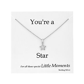 Sterling silver and cubic zirconia star trinket card - Product number 2828030