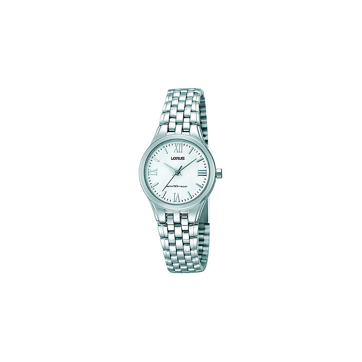 Lorus Ladies' White Dial & Stainless Steel Bracelet Watch - Product number 2828219