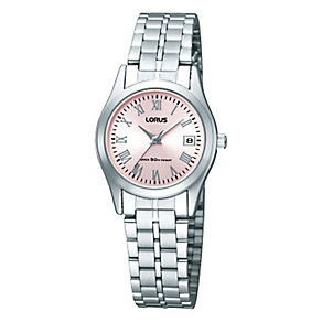 Lorus Ladies' Pink Dial & Stainless Steel Bracelet Watch - Product number 2828227