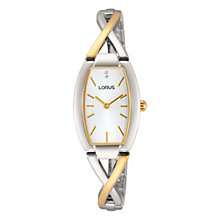Lorus Ladies' Crystal Set Two Tone Twist Bracelet Watch - Product number 2828278