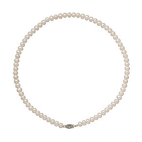 9ct yellow gold certified cultured freshwater pearl necklet - Product number 2828391