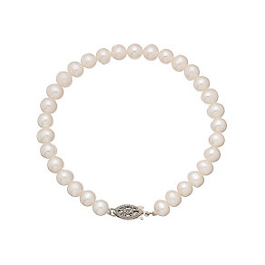9ct yellow gold certified cultured freshwater pearl bracelet - Product number 2828405