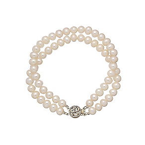 9ct yellow gold certified cultured freshwater pearl bracelet - Product number 2828448
