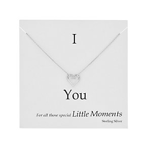 Sterling silver and cubic zirconia 'I love you' trinket card - Product number 2829495