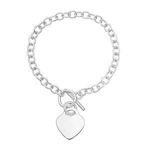 Sterling silver heart bracelet - Product number 2829517
