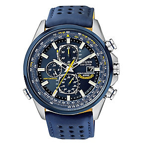 Citizen Blue Angels men's stainless steel blue strap watch - Product number 2829533