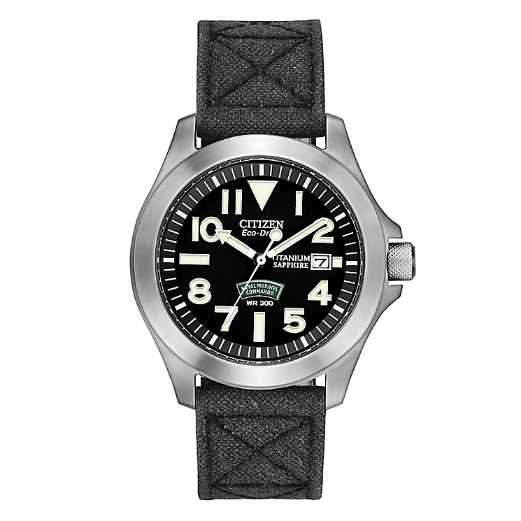 Citizen Royal Marines Commandos Men's Strap Watch - Product number 2829541